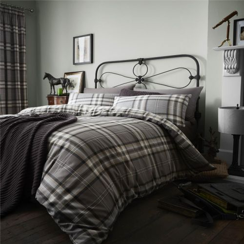 Catherine Lansfield Kelso Charcoal Bedding Set
